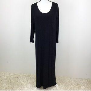 Slinky Brand Black Long Sleeve Dress